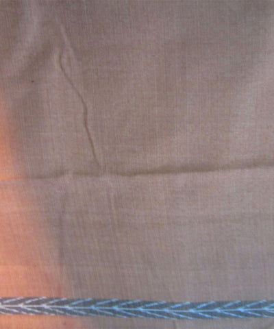 Traditional Cream and Brown Cotton Saree