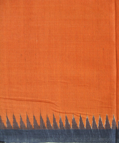 Handwoven Eri Silk Dupatta of Gopalpur in Rust and Black