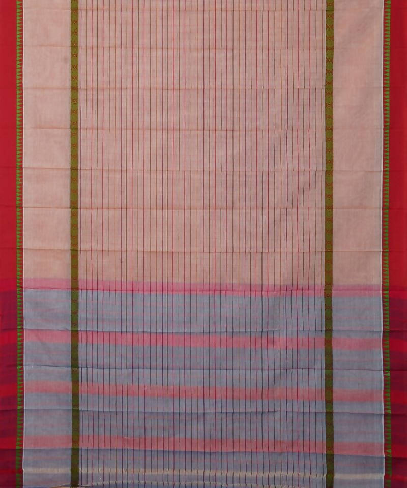 Stripes Handloom Narayanpet Cotton Saree