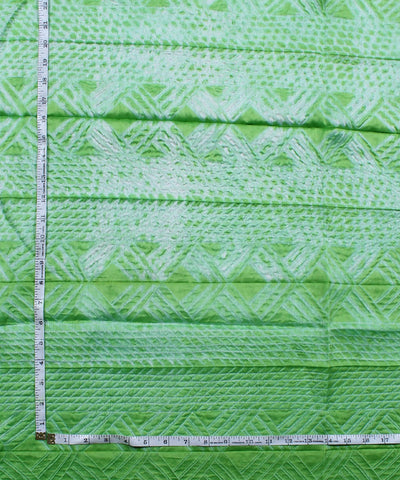Shibori Chanderi Light Green Kurta Fabric