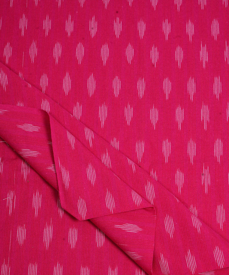 Pink Handloom Pochampally Ikkat Cotton Fabric