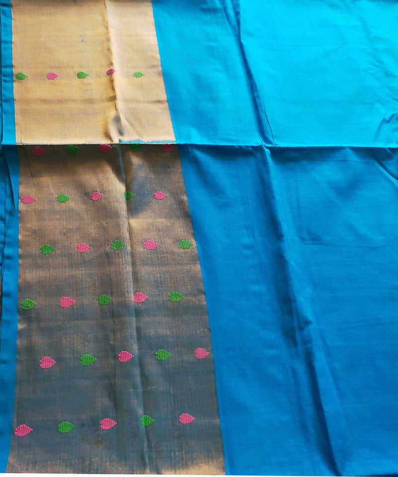 Venkatagiri handloom cotton sky blue saree