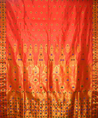 Red Assam Silk Saree