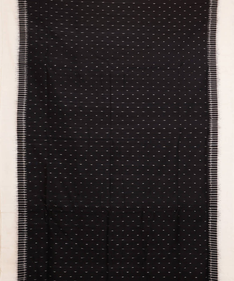 Handwoven Black Pochampally Cotton Saree