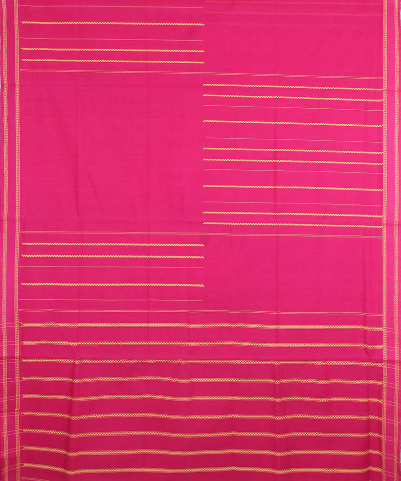 Dark Pink Handwoven Mangalagiri Cotton Saree
