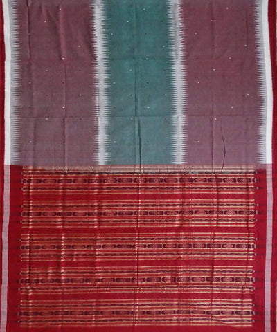 Multicolour Handloom Bomkai Cotton Saree