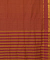 Pink Brown Mangalagiri Handloom Cotton Saree