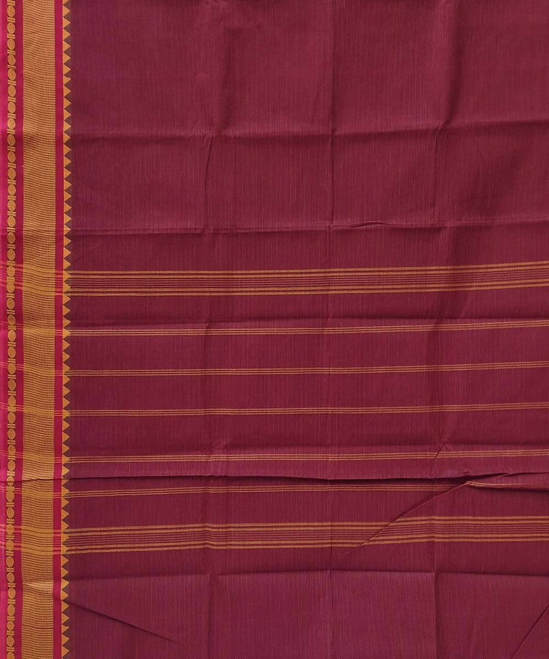 Maroon handloom tamil nadu cotton saree