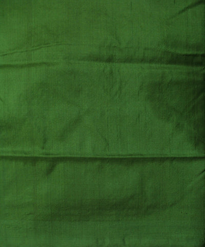 Handwoven Bomkai Silk Saree of Sonepur in Red and Green