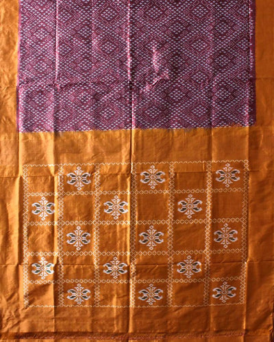 Handwoven Pochampally Ikat Silk Saree