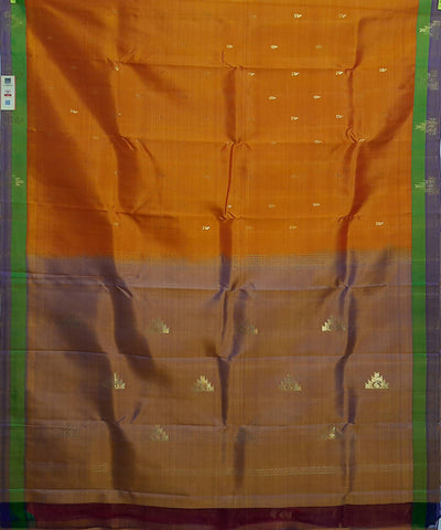 orange handloom molakalmuru butta work silk saree