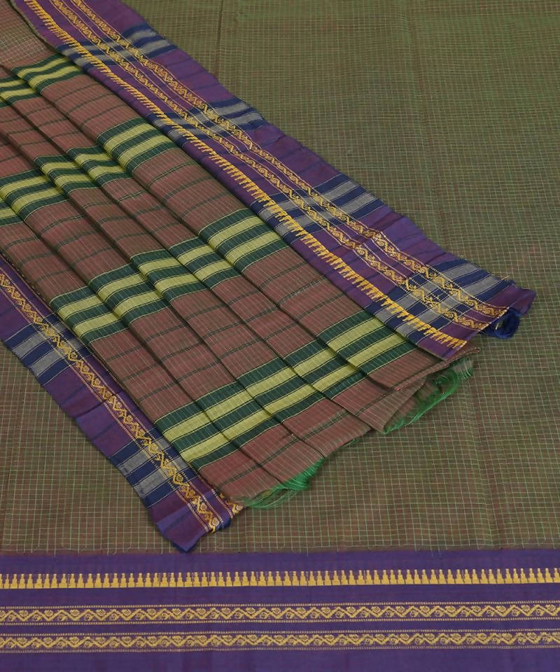 Handloom Double Shade Narayanpet Cotton Saree