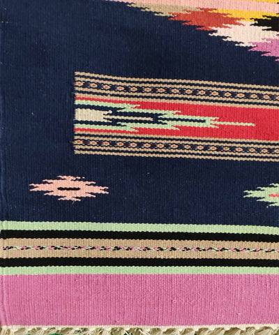 Handwoven Interlock Cotton Multicolor Dhurrie