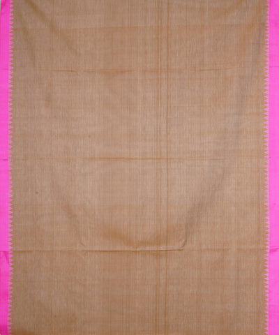 Beige Handloom Kuppadam Cotton Saree