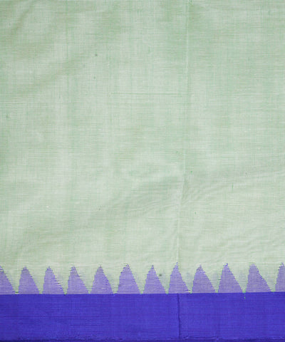Light Green Handloom Kuppadam Cotton Saree