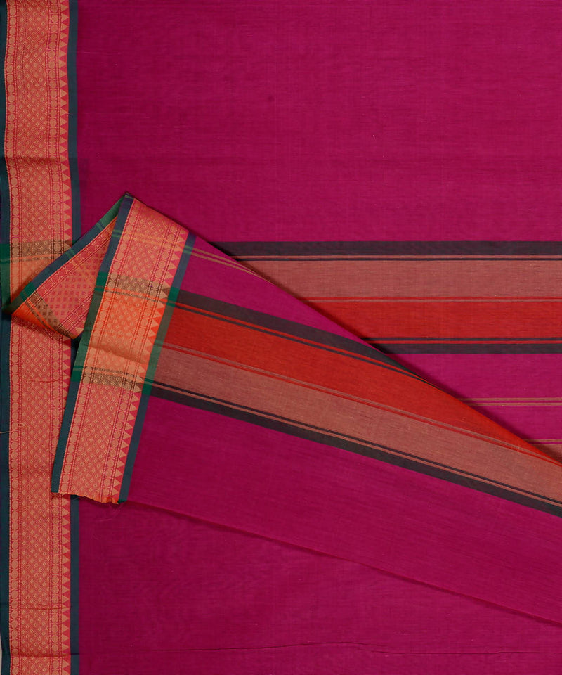 Pink Handwoven Kanchi Cotton Saree
