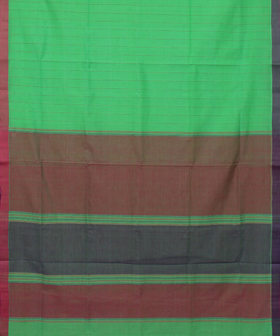 Green Striped Mangalagiri Handloom Saree