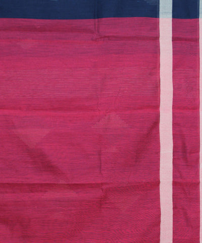 Black and Red Bengal Handwoven Saree
