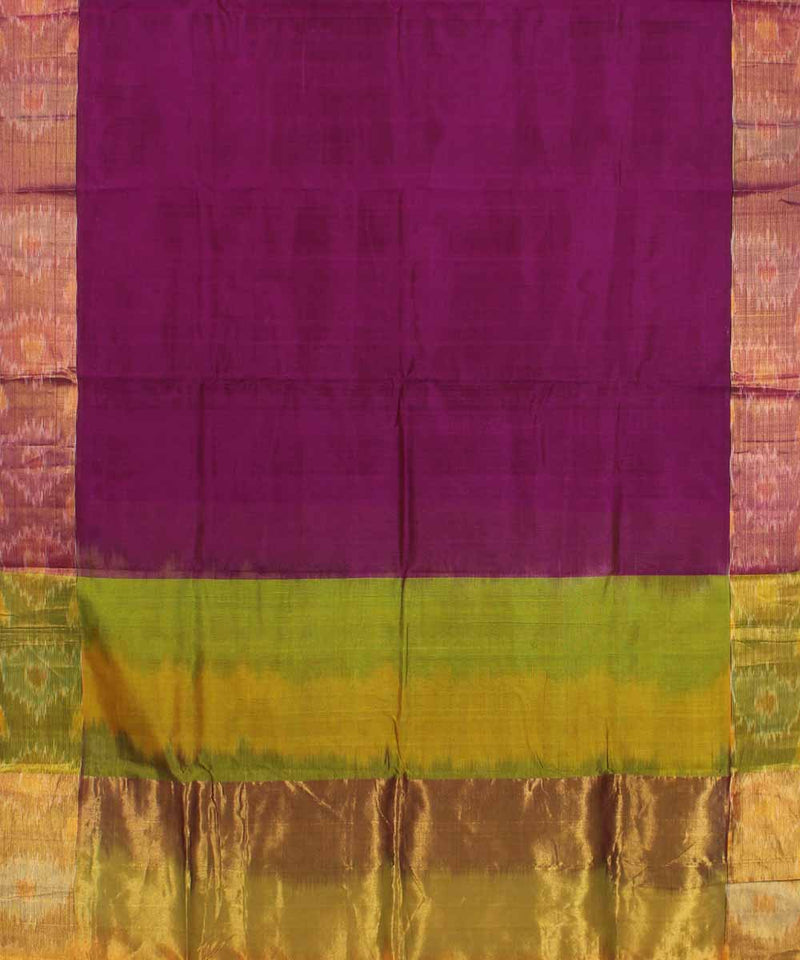 Purple Pink Handwoven Uppada Sico Saree