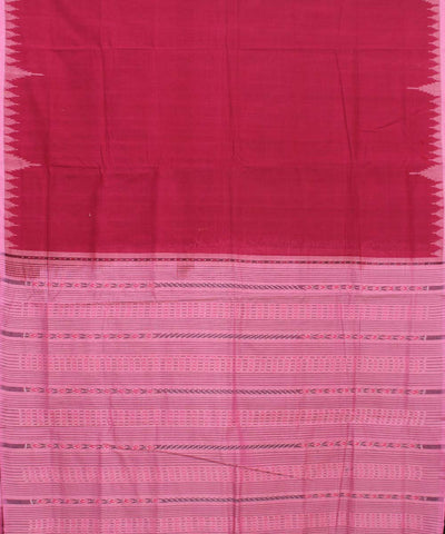 Red Pink Handloom Sambalpuri Saree
