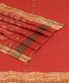 Bengal Handwoven Orange Tant Cotton Saree