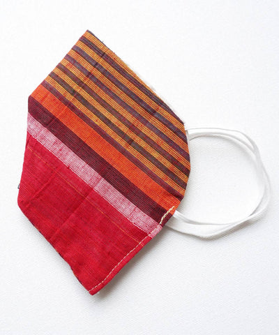 Multi Colour Striped Three Layered Handwoven Cotton Mask 6, 10, 20 nos