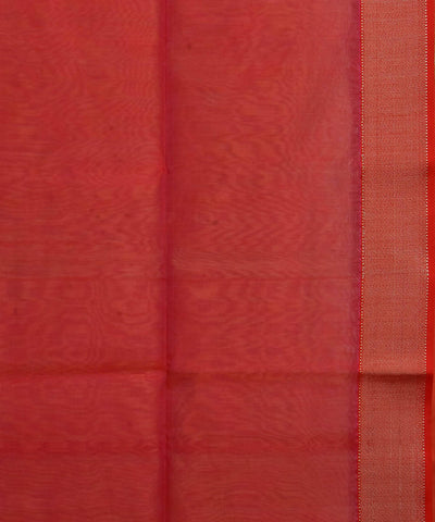 Handloom Peach Maheshwari Cotton Silk Saree