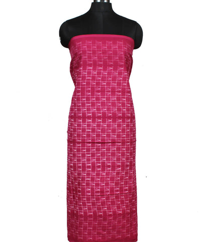 Pink Shibori Print Cotton Kurta Fabric