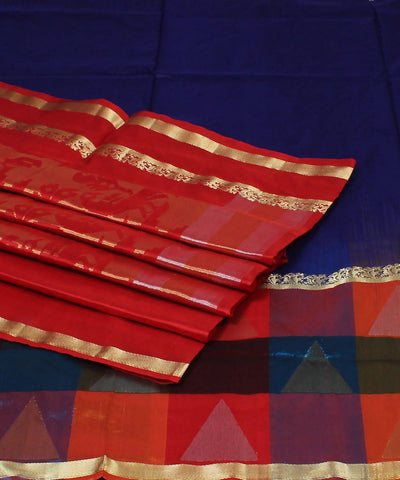 Navy blue Karnataka Handloom Silk Saree