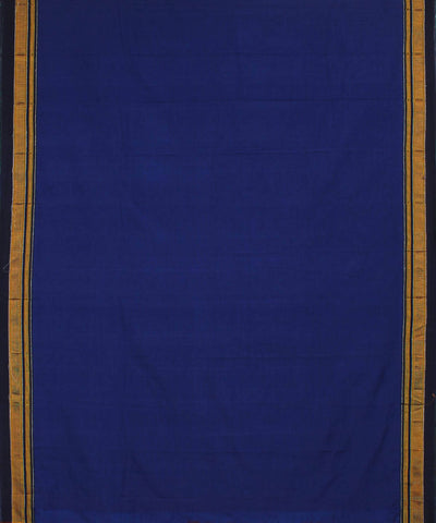Navy Blue Handloom Ilkal Cotton Saree