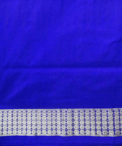Yellow Blue Silk Bomkai Handloom Saree