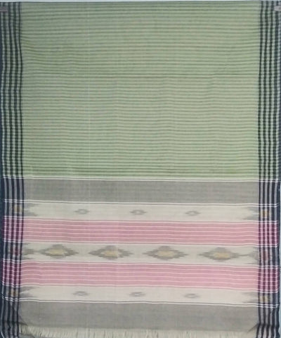 Light Olive Green siddipet tie and dye handwoven cotton saree