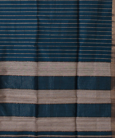 Handwoven Teal Green Maheshwari Sico Saree