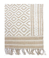 Handwoven Cotton Jute dhurrie in Diamond Pattern