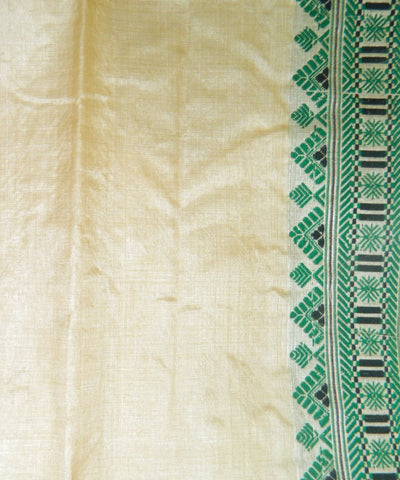 Tussar Muga Handwoven Assam Silk Saree