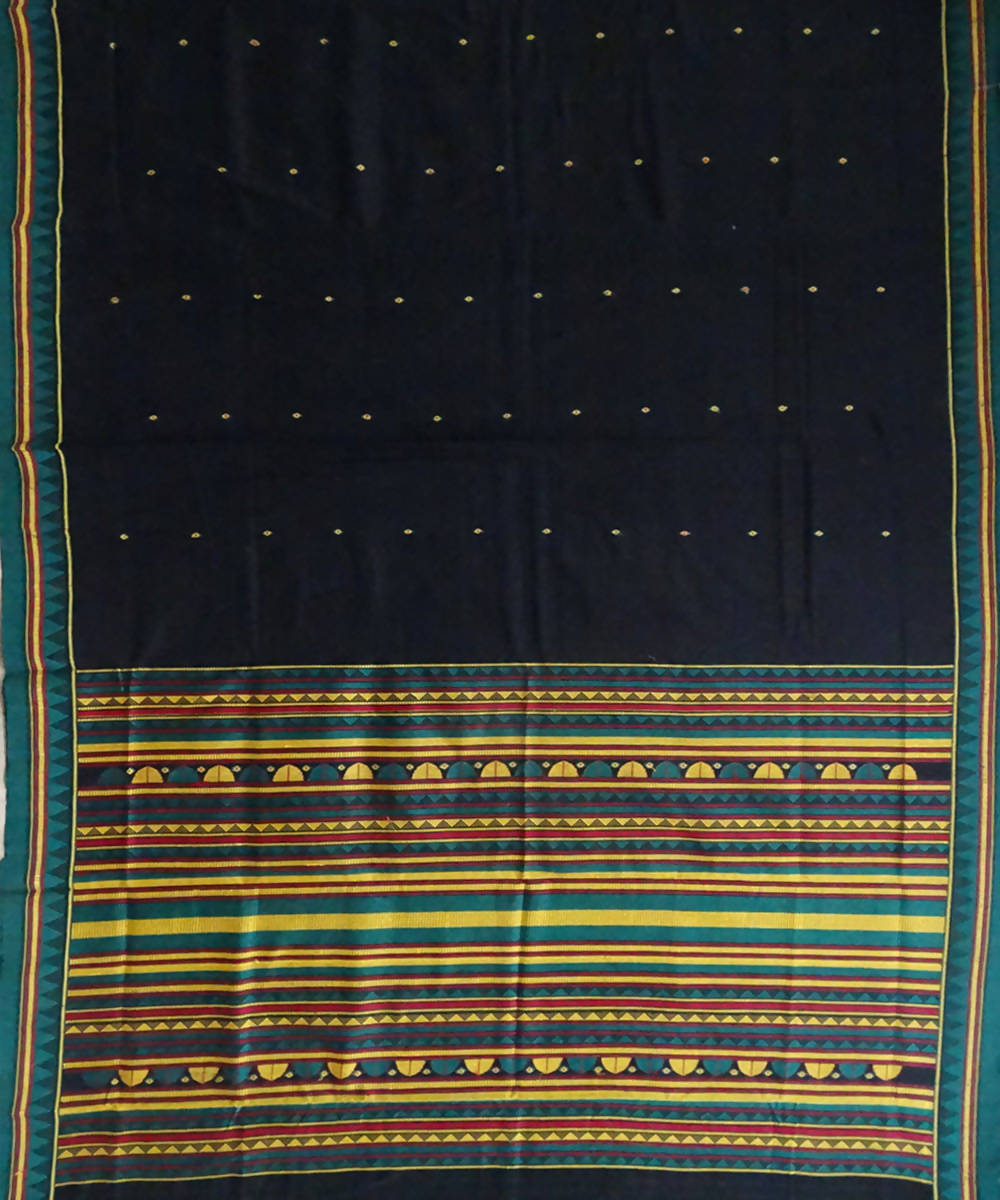 Black Dongria cotton Saree