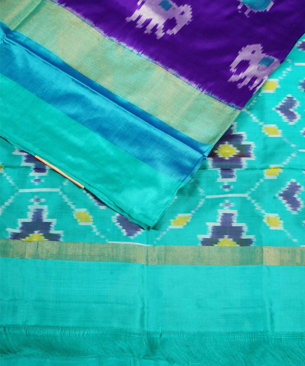 Dark Purple Handloom Pochampally Silk Saree