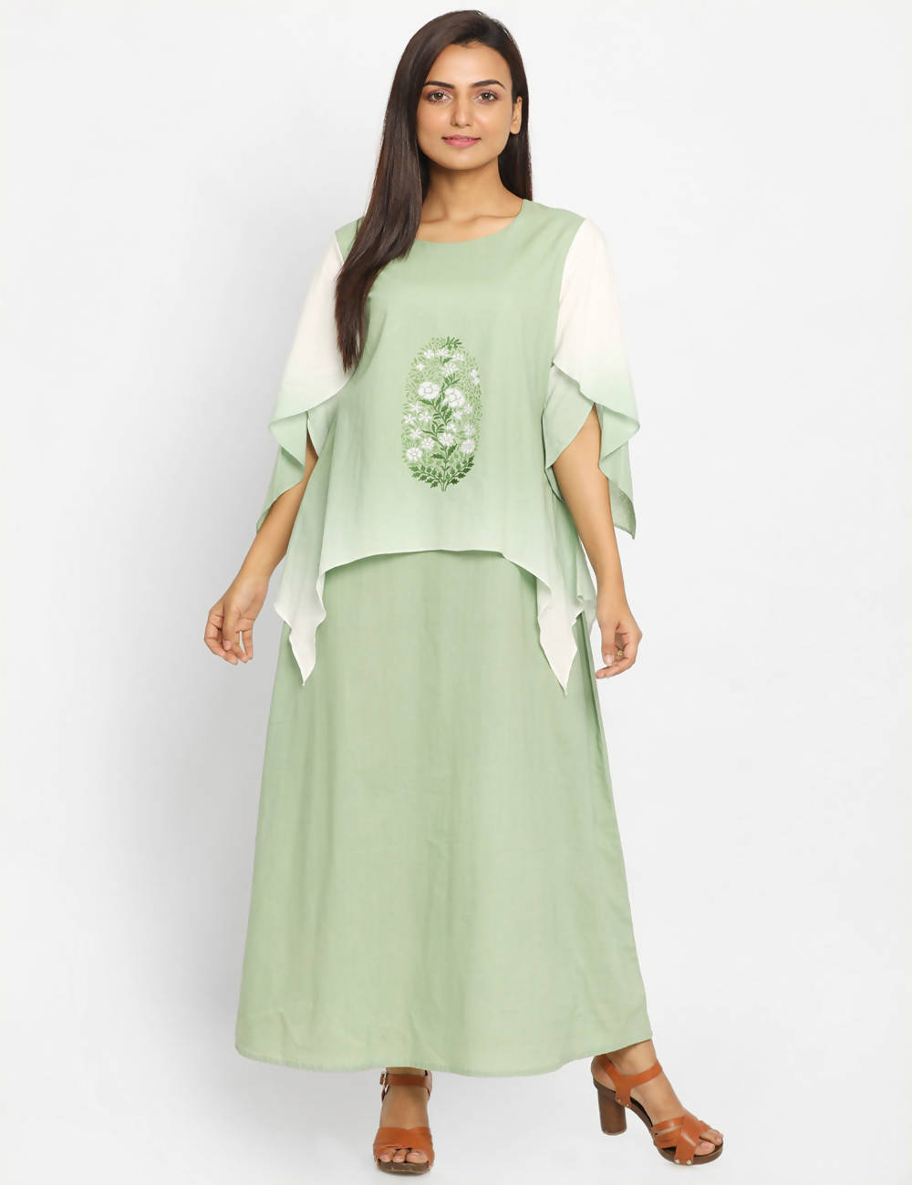 Pastel Green Handwoven Cotton Kurta Dress