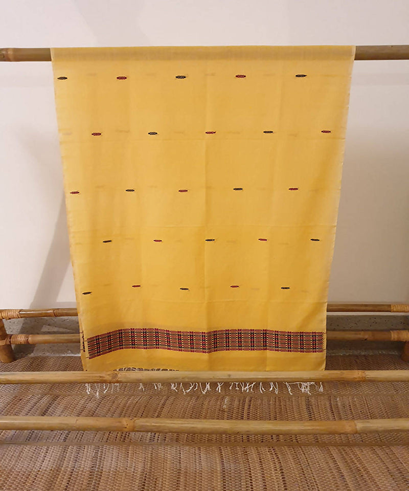 chrome yellow assam handloom cotton stole