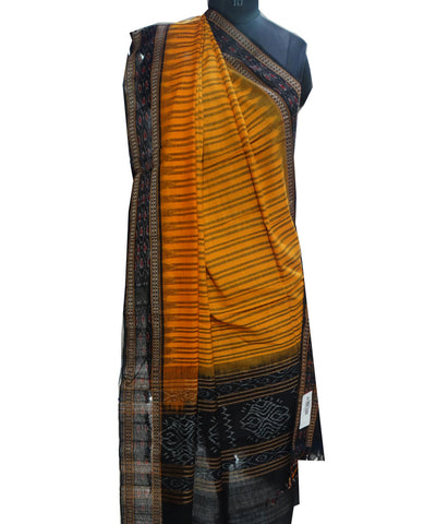 Exclusive Traditional Orange And Black Traditional Ikat tie And dye Cotton Dupatta