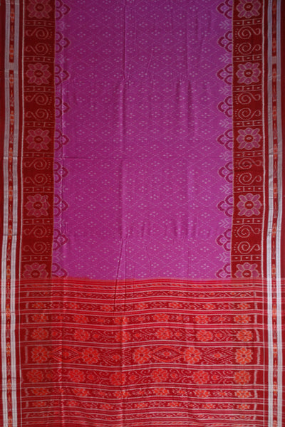 Exclusive Dark Orchid And Maroon Traditional Design Tie And Die Cotton Saree