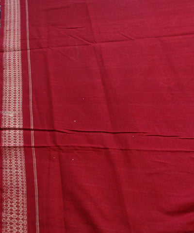 Delicate Designer saree in Black And Maroon Rose Design  Traditional tie And dye Sambalpuri ikat cotton Saree