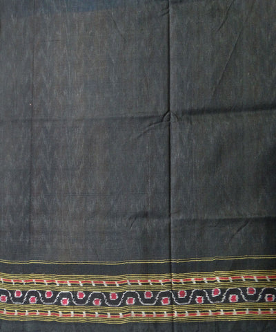 Multicolour Black Sambalpur ikat cotton Saree