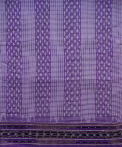 Exclusive Dark Pastel Purple And Dark Lavender Traditional tie And dye Sambalpuri ikat cotton Saree