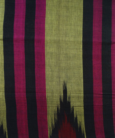 Exclusive Dark Olive Green Black And Maroon Traditional Design  Tie And Die Cotton Saree