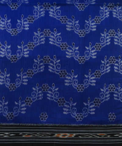 Exclusive Ink Blue And Black Traditional Ikat Tie And Die Cotton Saree