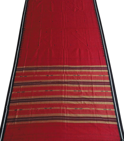 Maroon siminoi cotton Saree