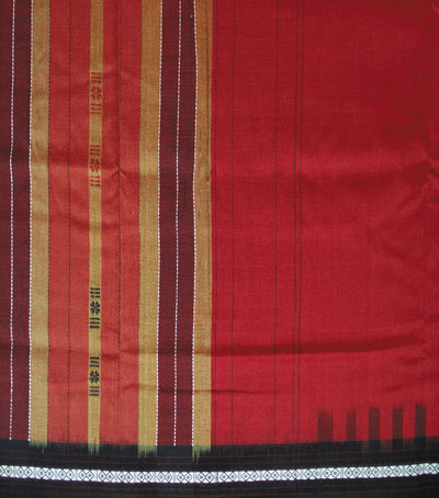 Exclusive Traditional Maroon And Black Siminoi Tie And Dye Cotton Saree