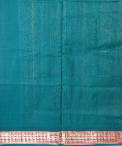 Unique White And Bottle Green Bomaki tie And dye  cotton Saree