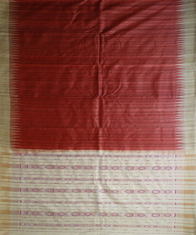 New Traditional Brick Red And Deep Champagne Plane tussar silk Saree